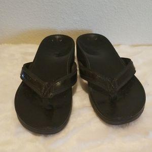 Vionic Black Flip Flop Sandals Size 10